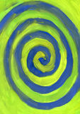 Blue spiral. Colorful water color spiral background Royalty Free Stock Photography