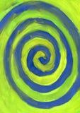 Blue spiral. Colorful water color spiral background vector illustration