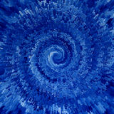 Blue spiral Stock Photo