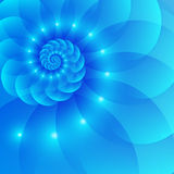 Blue spiral abstract vector background Stock Photos