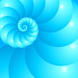 Blue spiral abstract vector background. Blue spiral abstract vector shining seashell background stock illustration