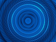 Blue spiral background Stock Images