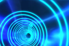 Blue spiral with bright light Royalty Free Stock Photo