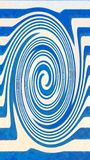Blue spiral illustration non-. As logo or clip art Stock Image