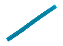 Blue spiral licorice stick on a white background Stock Image