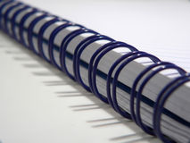 Blue spiral notebook Stock Photo