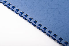 Blue spiral notebook Royalty Free Stock Photography