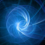 Blue spiral rays Stock Photography