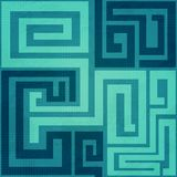 Blue spiral seamless pattern. (eps 10 Stock Photo