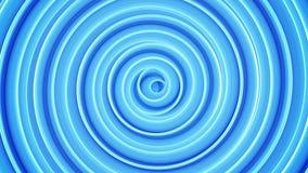 Blue spiral shape abstract 3D render Stock Photos