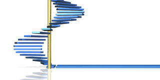 The blue spiral staircase Stock Photos