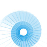 Blue spiral staircase Stock Image