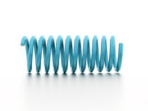Blue spiral string rendered isolated on white Stock Photo