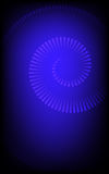 Blue spiral. Striped spiral on black and blue gradient background Stock Image