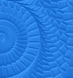 Blue spiral texture Stock Images