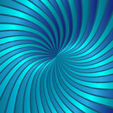 Blue spiral vortex vector Stock Images