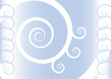 Blue spirals Stock Photography