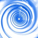 Blue spirals perspective Stock Image