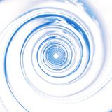 Blue spirals perspective. Blue spirals illustration made in 3D. Highly detailed with soft clouds reflection on the surface Stock Photography