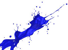 Blue splash Stock Images