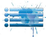 Blue splash buttons Stock Photos