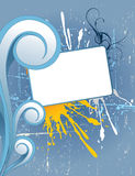 Blue splash and color lines background vector Stock Image
