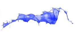 Blue splash isolated. On white background royalty free stock photography