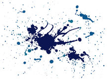 Blue splash painting Royalty Free Stock Photography
