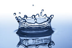 Blue Splash of Water Royalty Free Stock Images
