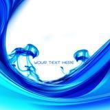 Blue splash wave background Royalty Free Stock Photography