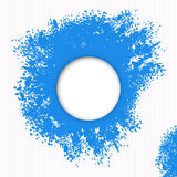 Blue splashes of paint Stock Photography