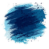 Blue splashes and spots Stock Image