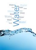 Blue splashing water Royalty Free Stock Photo