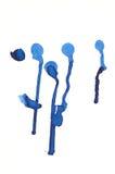 Blue splats Royalty Free Stock Image