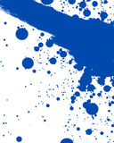 Blue splatter Stock Image
