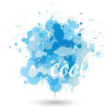 Blue splatter element Stock Photography