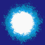 Blue Splattered Painted Background Stock Image