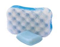 Blue sponge Royalty Free Stock Photo