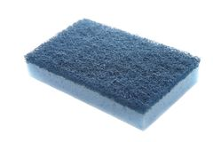 Blue sponge Royalty Free Stock Photography