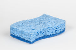 Blue sponge. A blue sponge, with a smooth and abrasive surface Royalty Free Stock Photography