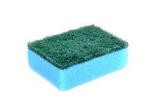 A blue sponge dish isolated Royalty Free Stock Photos