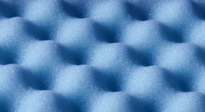 Blue Sponge Foam Surface Abstr Royalty Free Stock Photography