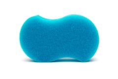 Blue Sponge. On isolated white background royalty free stock photos