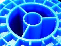 Blue spool Royalty Free Stock Image