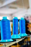 Blue spools Stock Photography