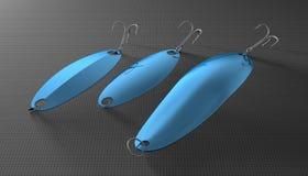 Blue spoon lures Royalty Free Stock Photos