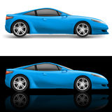 Blue Sport Car Royalty Free Stock Photo