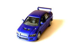 Blue sport car. On the white background Stock Photography