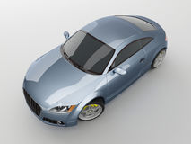 Blue sport car Stock Photography