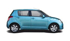 Blue Suzuki Swift Stock Photo